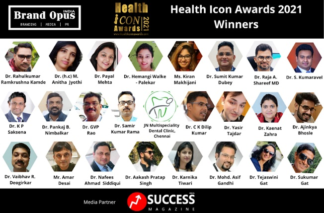 Brand Opus India Announces the Winners of Health Icon Awards – 2021