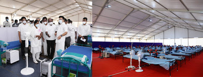 3000 Bed Facilities with Oxygen in Tamilnadu by MEIL to Mitigate Covid Crisis