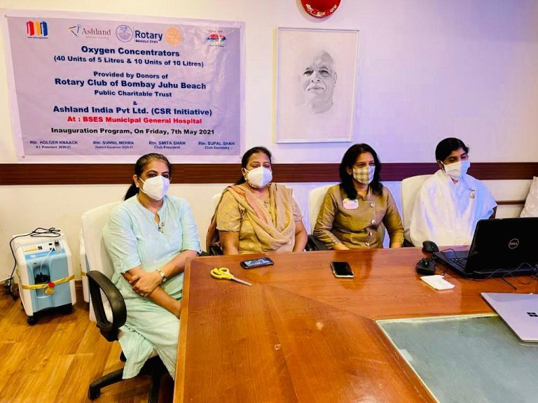 Ashland India donates 25 oxygen concentrators to BSES MG Hospital
